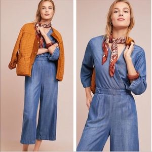 Anthropologie Cloth & Stone chambray jumpsuit, L